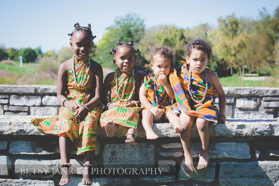 Ghanaian and Nigerian Family Photo Shoot_Kente_Great Grand Kids