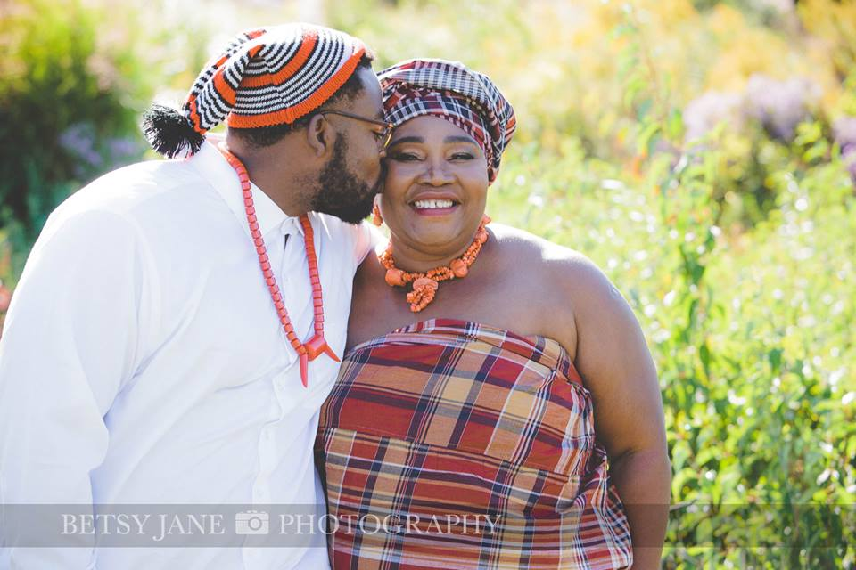 Ghanaian and Nigerian Family Photo Shoot_Kente_Her only son