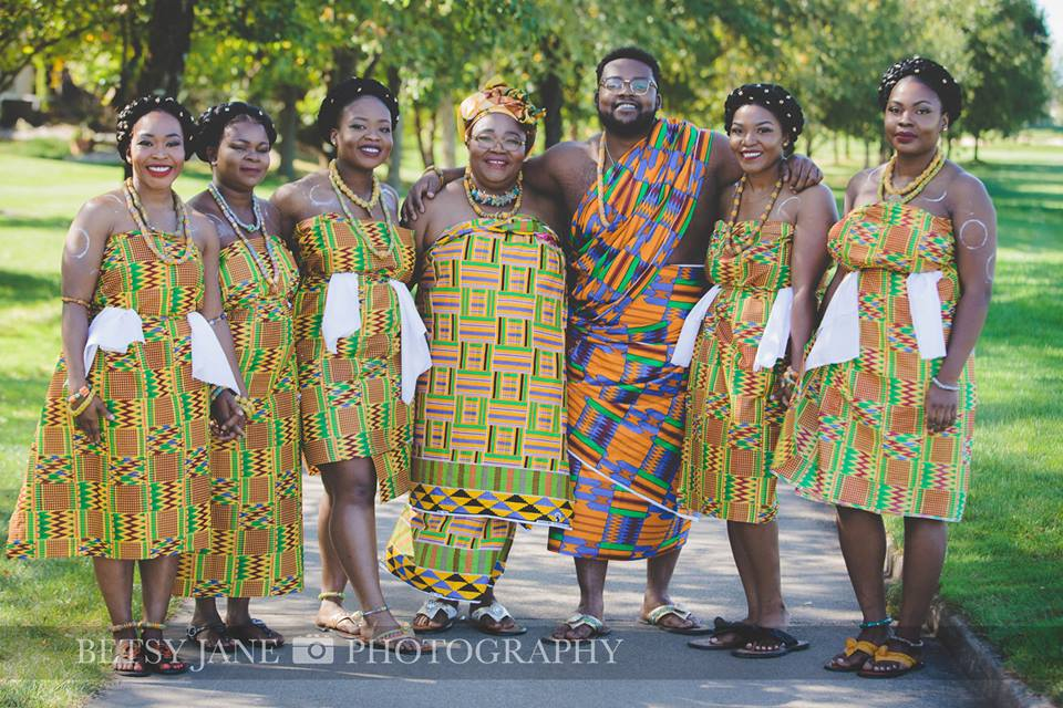 Ghanaian and Nigerian Family Photo Shoot_Kente_Mommy and her Kids