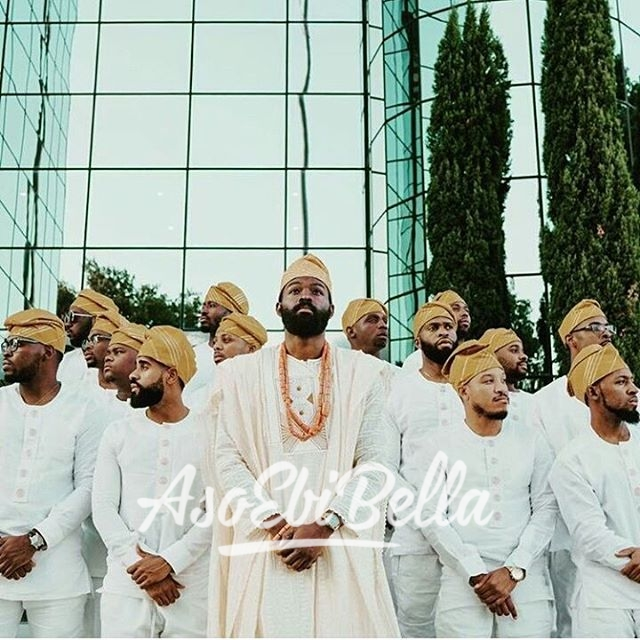 Groom @seyiopegbemi & his men