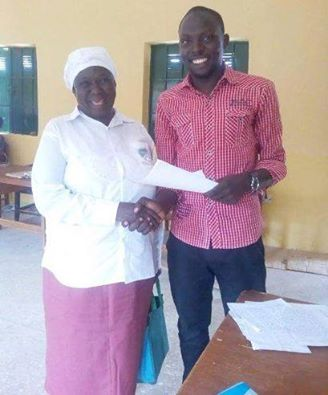 Helen Odeba and her teacher Saifullahi Adamu Bawa