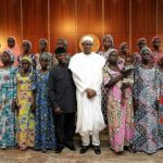 President Buhari, Vice President Yemi Osinbajo, and the Released Chibok Girls