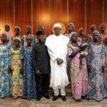 President Buhari Meets Chibok Girls2