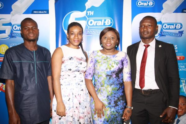 Mr. Abideen- The Consumer Protection Council (CPC), Executive Officer, Rep of Lagos State Office, Ifeoma Chuks Adizue- Brand Manager Oral B, Tolulope Adedeji- Brand Marketing Director P&G Nigeria, Adalemo Olawale Mujib- Lagos State Lottery Board (LSLB)