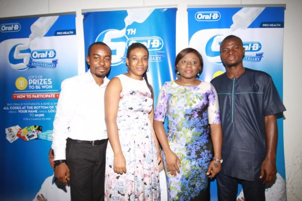 Folarin Ojo- Assistant Brand Manager Oral B, Ifeoma Chuks Adizue- Brand Manager Oral B, Tolulope Adedeji- Brand Marketing Director P&G Nigeria, Mr. Abideen- The Consumer Protection Council, Executive Officer Rep of Lagos State Office