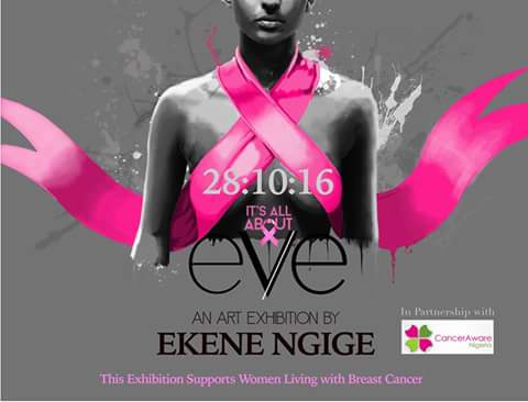 ITS ALL ABOUTEVE ART EXHIBITION AND AUCTION FOR BREAST CANCER BANNER