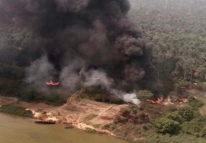 Illegal Refineries Destroyed in Rivers State