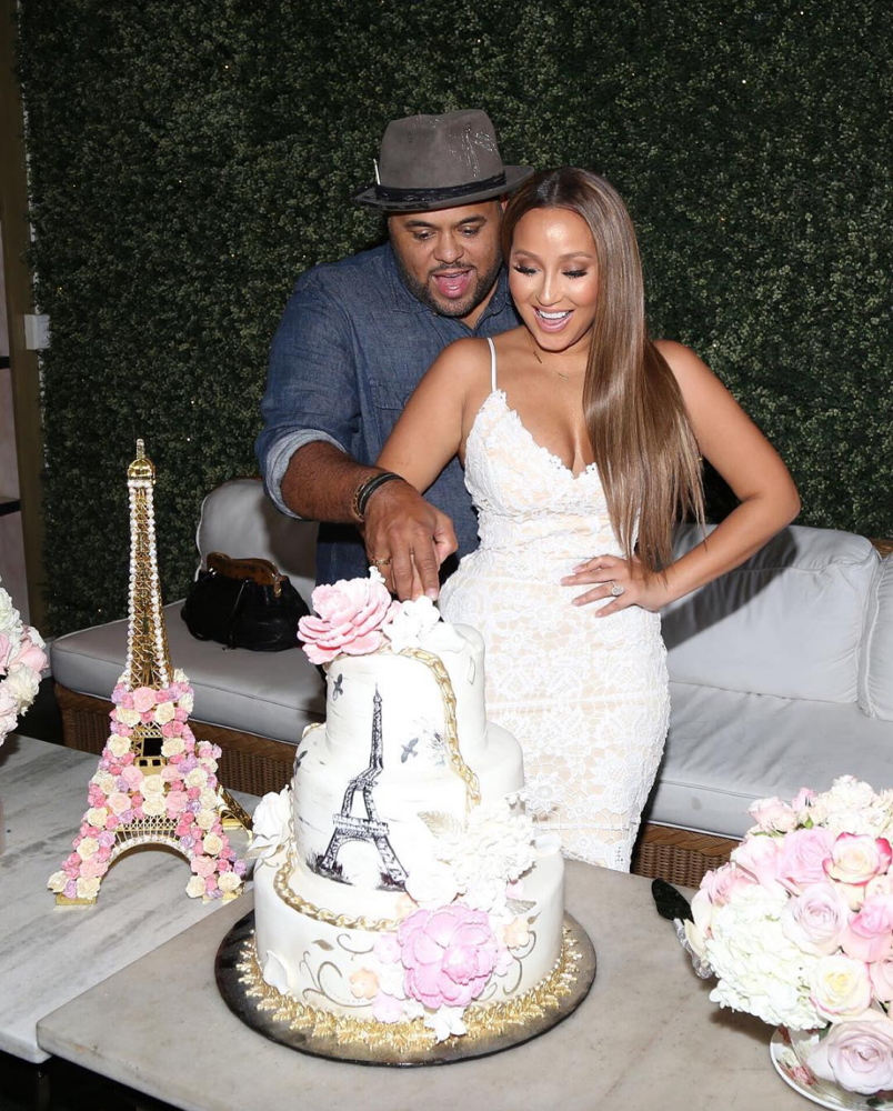 adrienne bailon israel houghton 39 s wedding shower