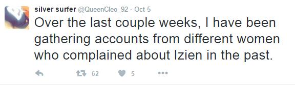 Izien Alleged Rape Tweets
