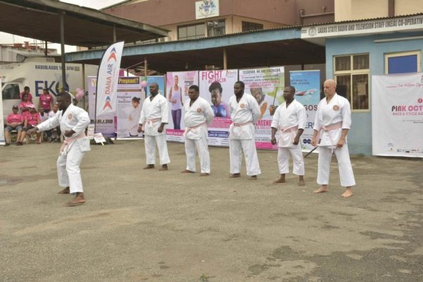 Karate Against Cancer at Pink October Walk