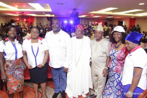 L/R: Kemi Shokenu-Morris, Dr Abiola Olorode, Olusegun Adebutu, Sir Kessington Adebutu, SSG Ogun State, Barrister Margaret Orakwusi and Matel-Okoh