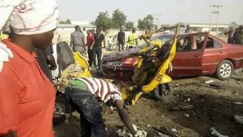 At Keke Napep Bomb Scene in Maiduguri