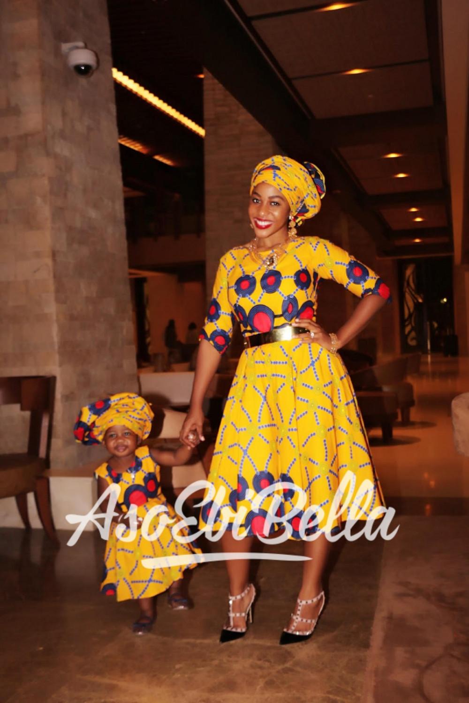 Milla Adewunmi & daugther Fabric by @ajbagudu