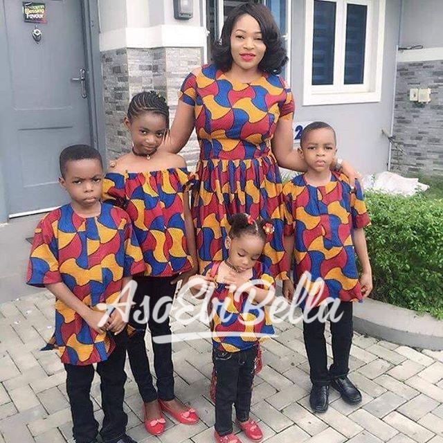 Mom & her adorable kids