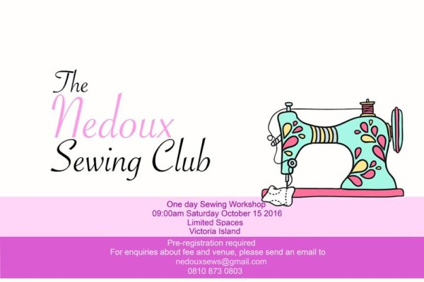 Nedoux Sewing Club Oct 2016
