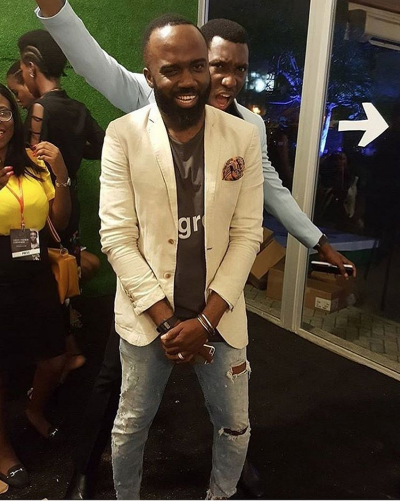 Noble Igwe and Timi Dakolo