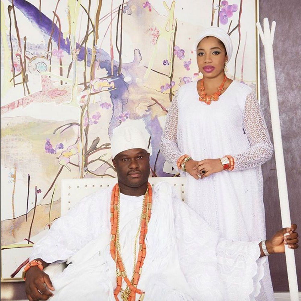 Olori Wuraola Ogunsi and Oba Ogunwusi
