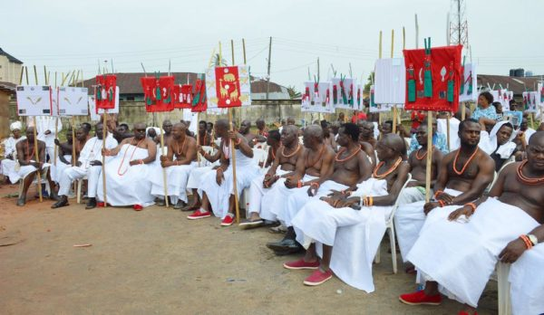 PIC.23. CORONATION OF NEW OBA OF BENIN, EHENEDEN EREDIAUWA IN EDO Pic.23. Some chiefs at the coronation ceremony of the new Oba of Benin, Omo N'Oba Eheneden Erediauwa in Benin on Thursday (20/10/16). 7853/20/10/2016/Ernest Okorie/BJO/NAN