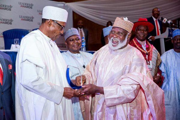 President Buhari Leadership Award3