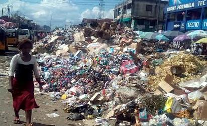 Refuse Dump Along Douglas Road in Owerri