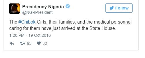 Released Chibok Girls