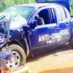 Scene of Police Crash