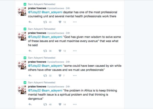 Pastor Sam's tweets