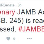 Senate Passes JAMB Bill