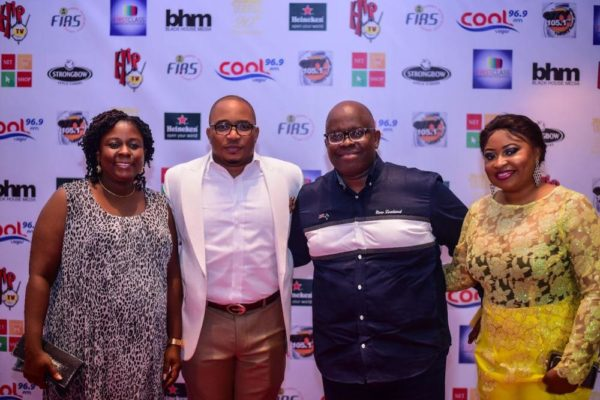 Tee A and Wife, Kehinde with MD of UPDC, Mr Hakeem Ogunniran and Wife