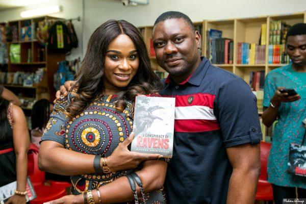 Tonya Lawani-Okojie with Othuke Ominiabohs