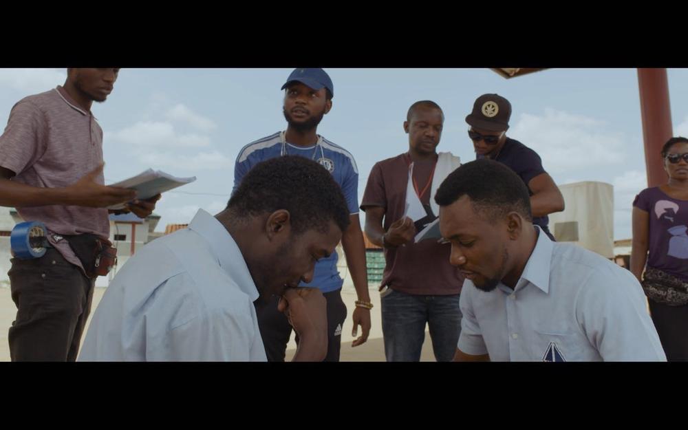 Tope Tedela & Seun Ajayi with Director Dare Olaitan