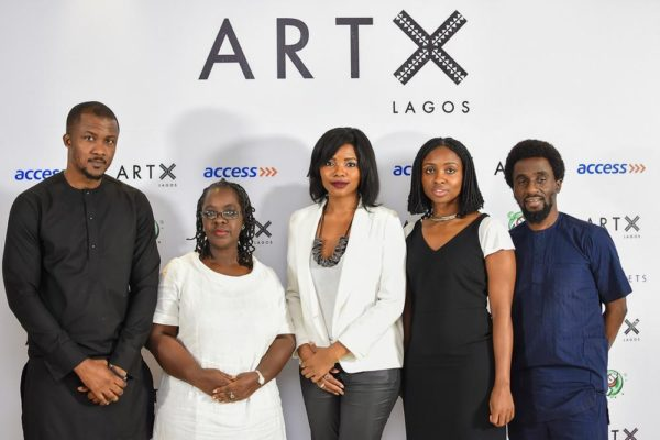 Wale Davies (Fatherland); Bisi Silva (Artistic Director, ART X Lagos); Tokini Peterside (Founder, ART X Lagos); Malaika Toyo and Papa Omotayo (AWCA)