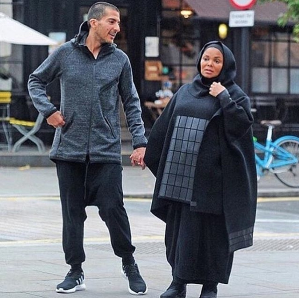 Janet Jackson's Modest Pregnancy Style in London with her husband Wissam Al Mana