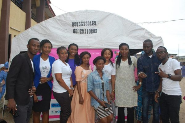 Founding Editor of Women of Rubies; Esther Ijewere-Kalejaiye with her team