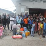 The Ideas House Team with some of the pupils of Modupe Cole Memorial Child Care And Treatment Home School, Yaba