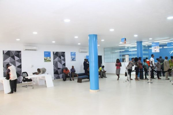 Customers in the new Union Bank branch in Enugu