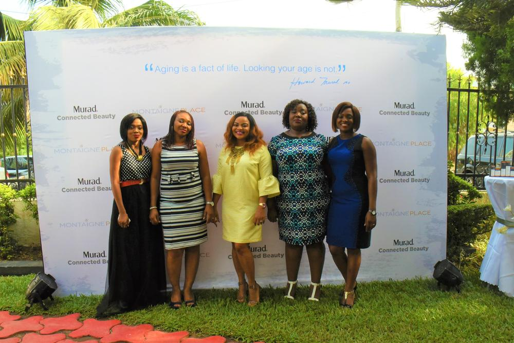 L-R: Tosin Akinyemi, Queen Ogunsile; Head of Training Montaigne Place, Funmi Elliott; Head of Marketing & Brands Management Montaigne Place, Toyin Gbede- Kayode; Head of Digital & Online Strategy Montaigne Place, Toyin Adepegba; Brand Manager Montaigne Place.