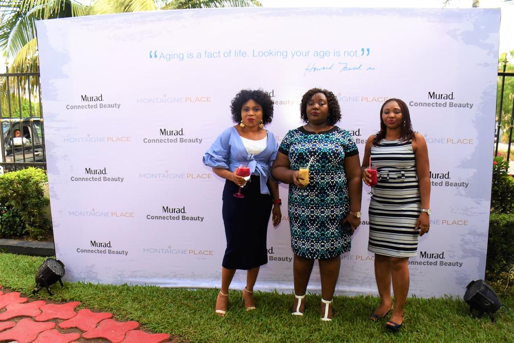 L-R; Geth Okoli; Head of Sales Montaigne Place, Queen Ogunsile; Head of Training Montaigne Place, Toyin Gbede- Kayode; Head of Digital & Online Strategy Montaigne Place 21.From Left; Funmi Elliott, Dr Ayesha Akinkugbe; Queen Ogunsile