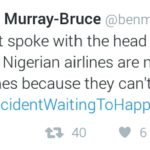 Ben Murray-Bruce Tweets on Airlines