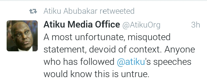 Atiku tweets on Nigerian Education2