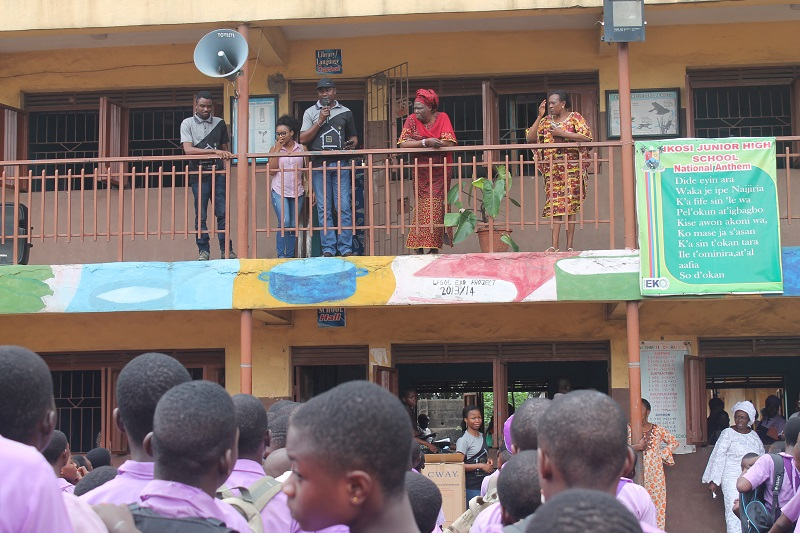 The Ideas House team at Ikosi Junior High School, Ketu, Lagos
