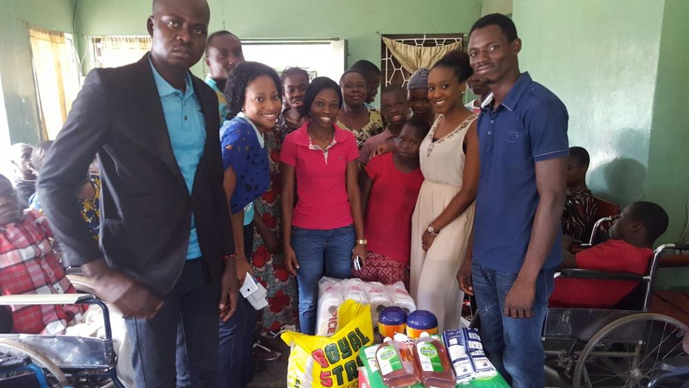 The Ideas House team during the visit at Oluloye Cheshire Home, Ibadan