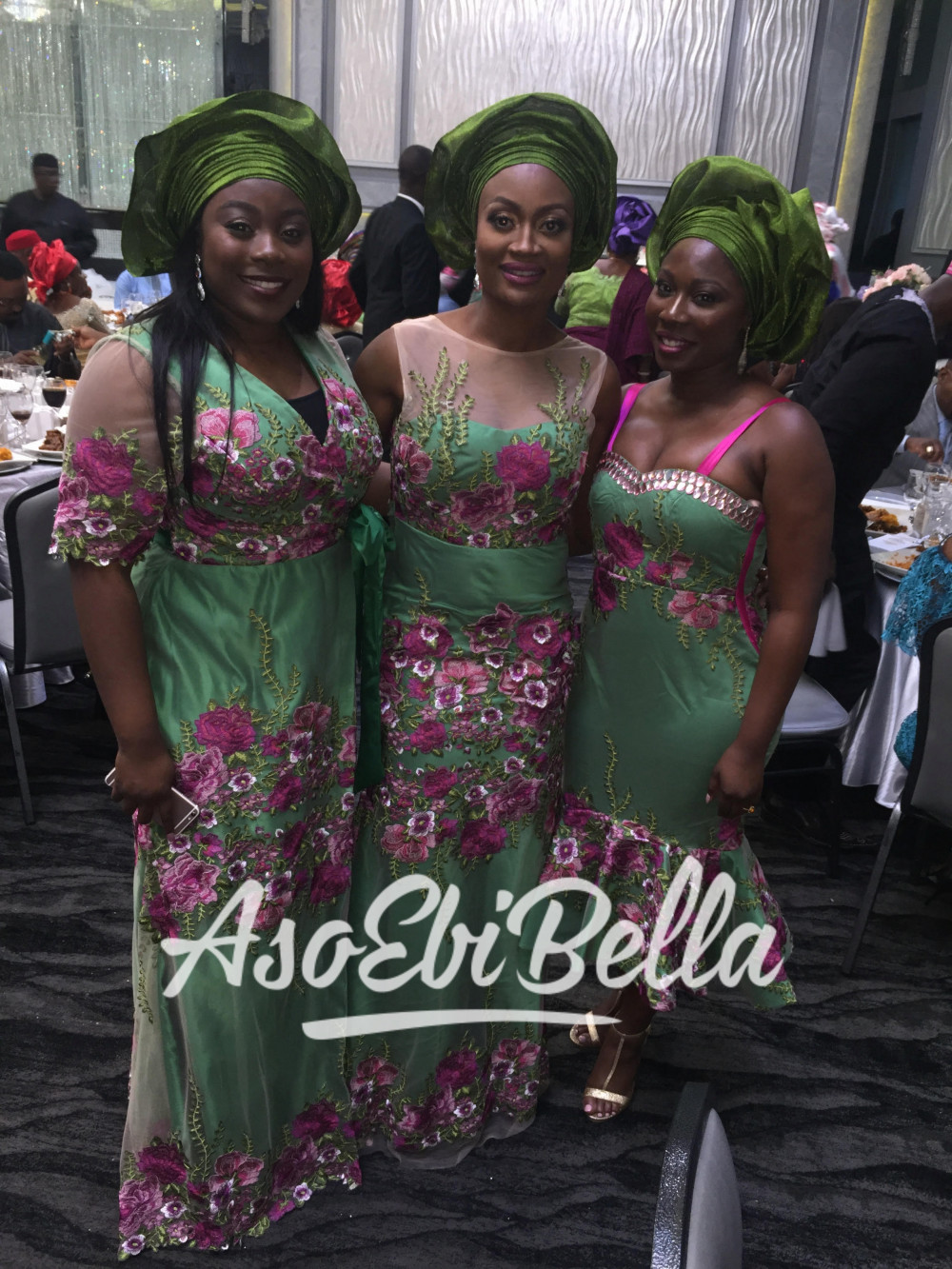 @adtvic and sisters in @ayabaofficial Fabric by @glitz_allure_fabrics