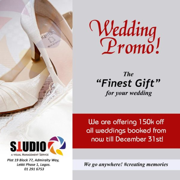 Wedding Gift For Quest : ... Studio Q is Offering N150,000 off Wedding Promo Packages - BellaNaija
