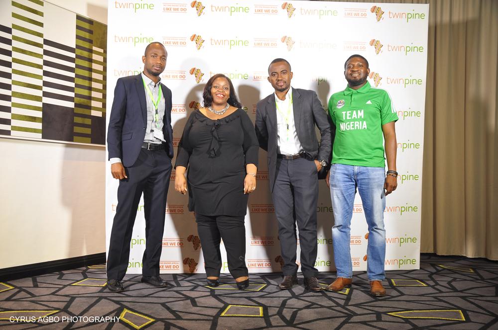 Oduntan Odubanjo, Chief Operation Officer, Twinpine; Rosemary Akpo, Africa Marketing Director - Ribena, Suntory, Emeka Enwere, Chief Product Officer, Twinpine; Yusuf Murtala, Marketing Manager, Lucozade