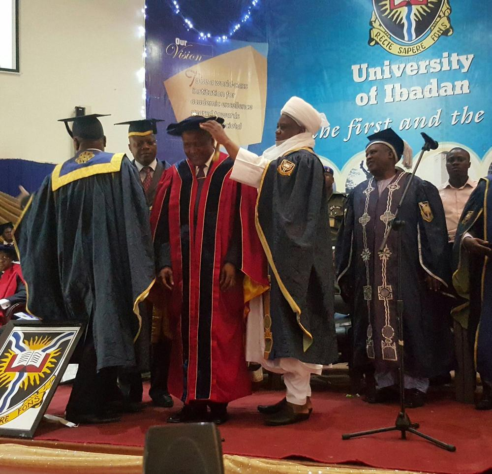 Image result for Dangote's honorary doctoral