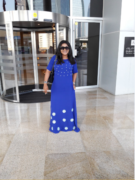 Mercy Aigbe-Gentry... a vision in blue. So beautiful