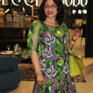 NEW YORK, NY - SEPTEMBER 22:  Folorunsho Alakija attends the United Nations General Assembly Week African Fashion And Philanthropy Reception at Roche Bobois on September 22, 2015 in New York City.  (Photo by Cynthia Edorh/Getty Images)