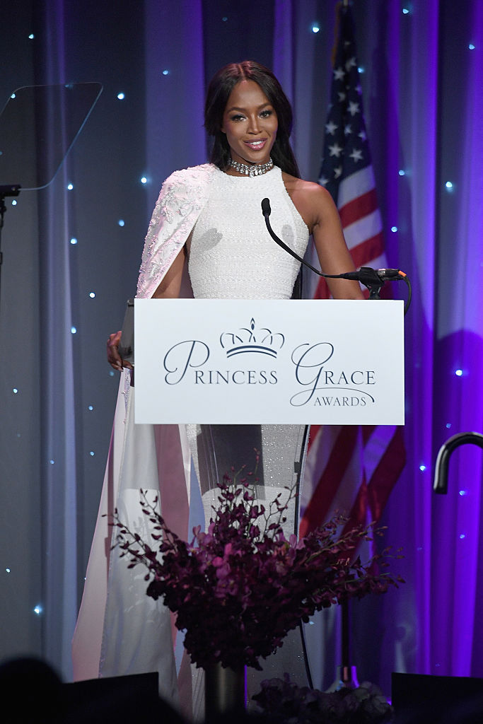 NEW YORK, NY - OCTOBER 24: Model Naomi Campbell speaks onstage during the 2016 Princess Grace Awards Gala with presenting sponsor Christian Dior Couture at Cipriani 25 Broadway on October 24, 2016 in New York City. (Photo by Dimitrios Kambouris/Getty Images for Princess Grace Foundation)