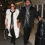 LOS ANGELES, CA - NOVEMBER 09: Adrienne Bailon and Israel Houghton seen at LAX on November 09, 2016 in Los Angeles, California.  (Photo by starzfly/Bauer-Griffin/GC Images)